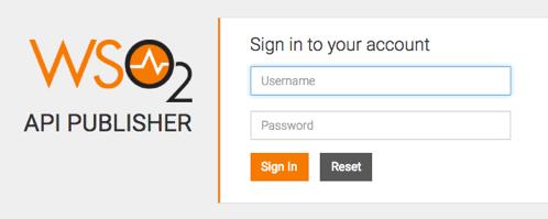 API Publisher login
