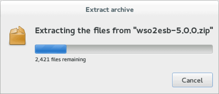 Extracting the files from WSO2esb 5.0.0.png