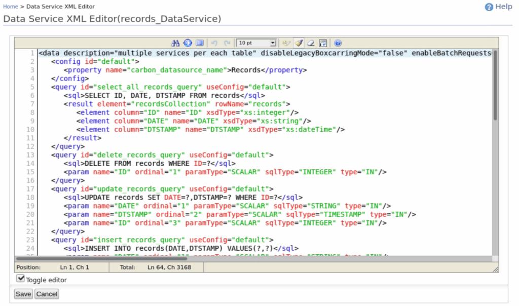 Data Service VS DBReport 1